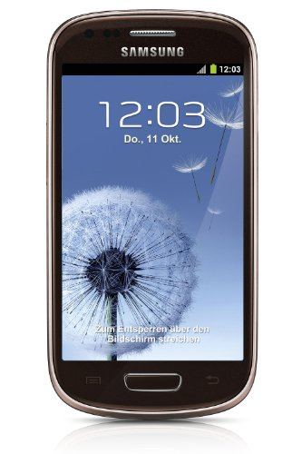 Samsung Galaxy S3 mini I8190 Smartphone (10,2 cm (4 Zoll) AMOLED Display, Dual-Core, 1GHz, 1GB RAM, 5 Megapixel Kamera, Android 4.1) braun