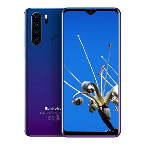 Blackview A80 Pro (2019) 4G Smartphone zonder abonnement, voordelig 6,49 inch Android 9.0 4 GB RAM + 64 GB ROM, 128 GB uitbreidbaar 4680 mAh batterij 13 MP + 8MP Dual Camera Dual SIM mobiele telefoon - vingerafdruksensor, blauw
