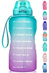 top rated Greatly motivated 1 gallon / 128 oz Fidas water bottle, timer and straw, leakproof tritan … 2021