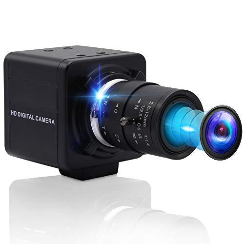 4K Optical Zoom USB Camera,Ultra HD Sony IMX317 Sensor Webcam for PC with 2.8-12mm Varifocal Lens,3840x2160@30fps Focus Adjustable USB Computer Camera Web Conference Live Streaming UHD Web Cameras