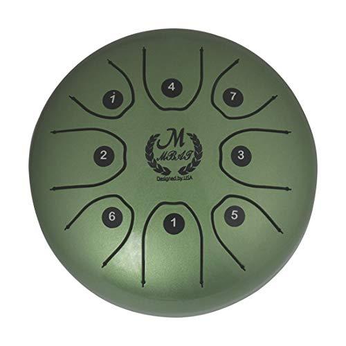 5,5 inch Steel Tongue Drum 8 noten, D-Dur, HangDrum met gewatteerde drumzak en een paar pallets, prachtig veredeld en rustig geluid.