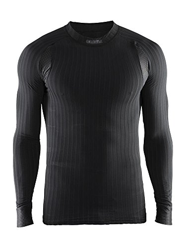 Craft Herren Unterwäsche Active Extreme 2.0 CN LS M Unterhemd, Black, L