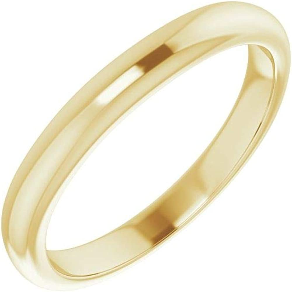 Solid 10K Yellow Gold Curved Notched Wedding Band for Band 7mm Ring Guard Enhancer - Size 7