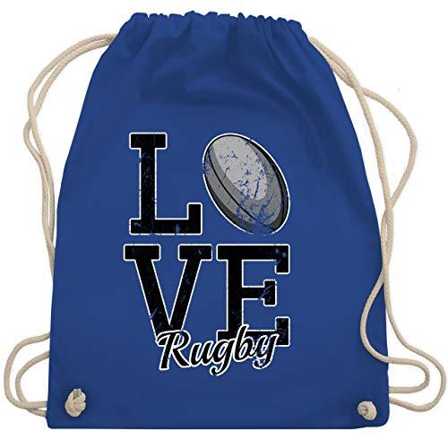 Sonstige Sportarten - Love Rugby - Unisize - Royalblau - sportbeutel orange rugby - WM110 - Turnbeutel und Stoffbeutel aus Baumwolle