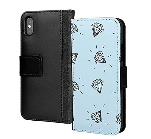 Blue Diamond Hands Wallstreet Bets - Funda de piel sintética para iPhone XS Max