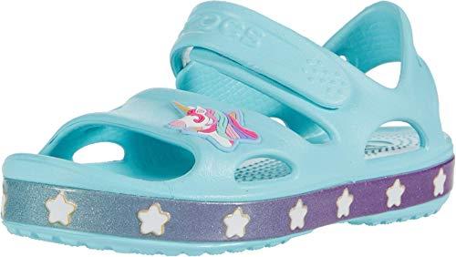 Crocs Unisex Baby 206366-4O9_19/20 outdoor sandals, Blue, 19/20 EU