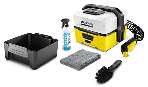 Kärcher Mobile Outdoor Cleaner OC 3 Bike Box (Wassertankvolumen: 4 l, Lithium-Ionen-Akku, abnehmbarer Wassertank, schonender Niederdruck, Universalbürste, Motorrad-/Fahrradreiniger, Mikrofasertuch)