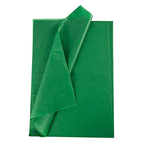 RUSPEPA Geschenkpapier Seidenpapier - Grün Seidenpapier für Heimarbeit Bastelarbeit Geschenkverpackung – 50 x 70 cm – 25 Blatt