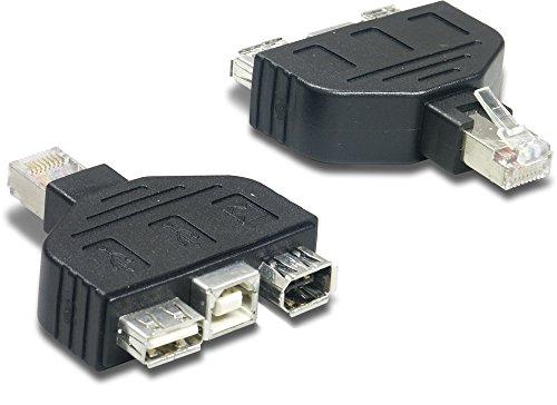 TrendNet TC-NTUF - Adaptador FireWire (USB RJ-45), Negro