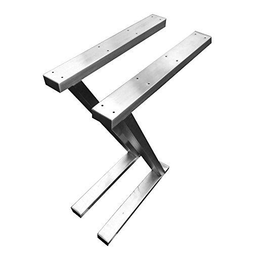 CHYRKA Z- Estructura para tableros de Mesa Diseño pie de Mesa Acero Inoxidable 201 60x30 Comedor Mesa Estructura Pata (720x500 mm - 1 par)