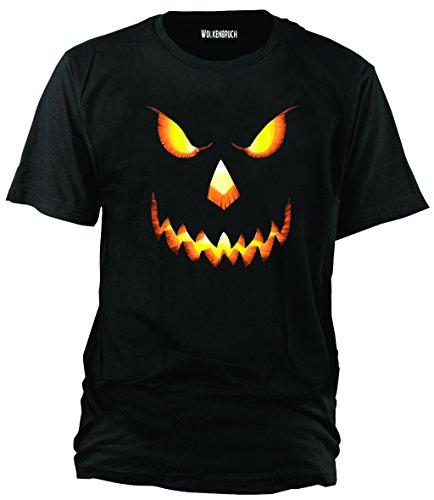 Wolkenbruch® T-Shirt Halloween Pumkin Head, XL, schwarz
