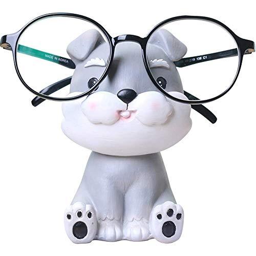 Konrisa Creativo Soporte para Gafas de Sol Spectacle Stand Schnauzer Gafas de Lectura Soporte Lector Regalo Soporte de Exhibición Gafas de Sol para Hombres Mujeres Oficina en casa Decoración Adornos