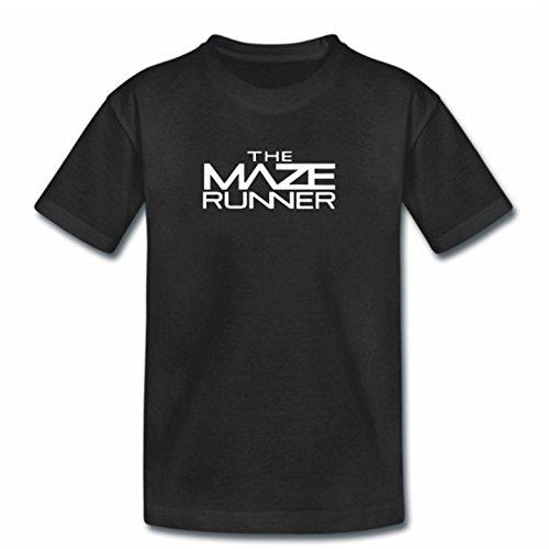 T-shirt pour enfant Motif labyrinthe Noir - Noir - Taille Unique