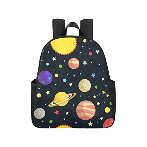 Cartoon Space Shiny Solar System Planet Backpacks School 12.40x5.12x14.17inch Travel Bag Multipurpose Casual Bookbag Business Travel School,Office