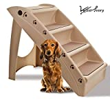 West Ivory 4 Step Pets Stairs for Dog/Cats - Portable, Washable and Affordable