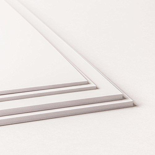 Rückwandmaterialien Leichtschaumplatte - Verschiedene Stärken und Größen (5mm stark, DIN A3 (4 Stück))