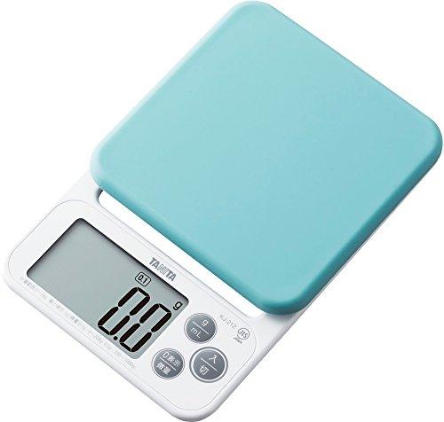タニタ クッキングスケール キッチン はかり 料理 シリコンカバー付き デジタル 2kg 0.1g単位 ブルー KJ-212 BL カバーが洗える