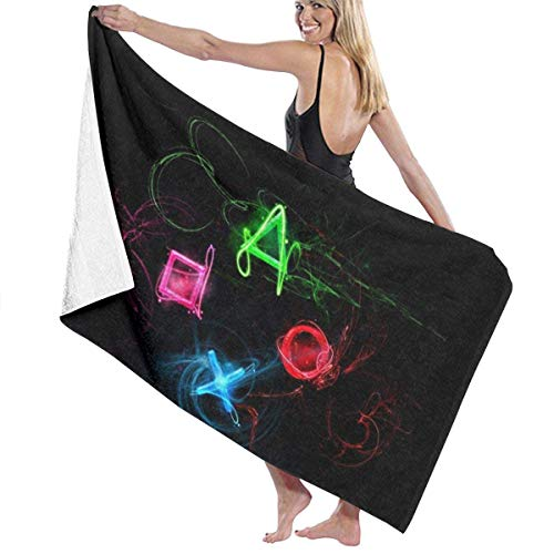 LREFON Toallas Botones Playstation Abstractos Microfibra para la Ducha,Toallas de baño, Fitness, Deportes al Aire Libre