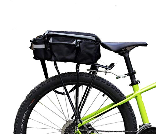 bike on hikes Bike Pannier Bag - Waterproof & Reflective Bicycle Rear Rack Storage for Phones & Accessories - Trunk Bags for Messenger & Mountain Bikes