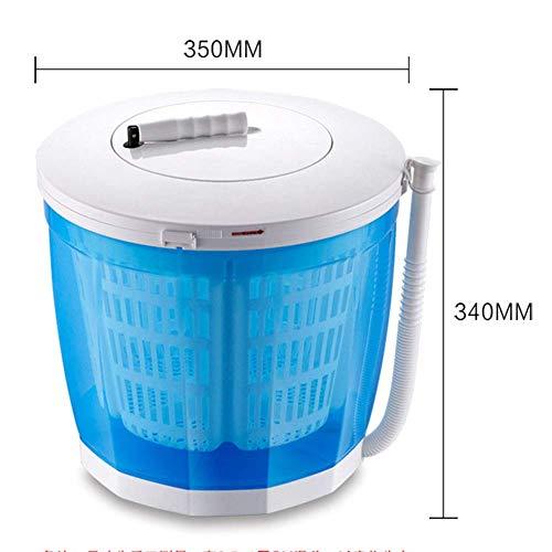 GOG Tragbare Haushaltswaschmaschine, manueller kleiner Mini-Dörrapparat, kein elektrischer Trockner, Händetrockner, Dehydrierung von 3 kg, geeignet für Wohnheim-Campingwagen usw,Rosa