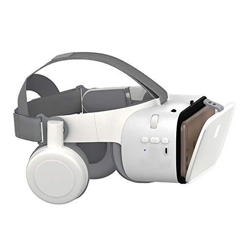 Bias&Belief 3D VR Brille,Virtual-Reality-Brille,110 ° Betrachtungswinkel,Klein und Faltbar,für iPhone & Android Smartphone Von 4.7-6,5 Zoll,Weiß