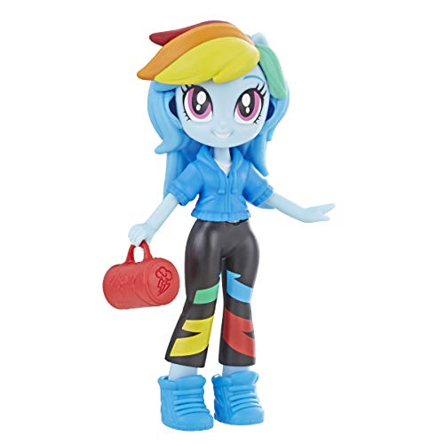 """My Little Pony Equestria Girls Fashion Squad Rainbow Dash 3"""" Mini Doll with Removable Outfit, Shoes & Accessory, for Girls 5+"""