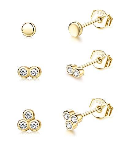 Gold Filled Stud Earrings Set