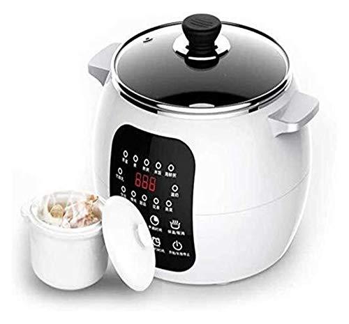 X-LSWAB Eléctrica Olla de cocción Lenta 2.5L 13 Menú de cerámica Sopa de Desayuno Pot máquina con Yogur salmuera Cita Fabricante 12H 220V Conveniente for el Vapor Cocina Cocinar Guiso