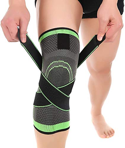 Knee Sleeve,Compression Fit Support - for Joint Pain and Arthritis Relief, Improved Circulation Compression - Wear Anywhere - Single