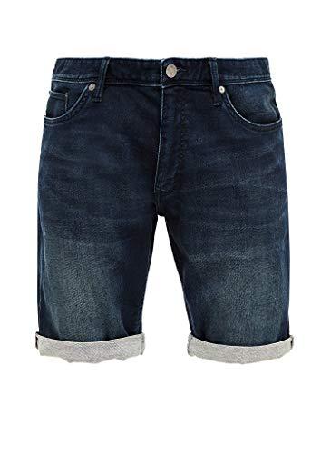 Q/S designed by - s.Oliver Herren Regular Fit: Bermuda aus Jeans Dark Blue 32