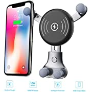 [2019 Newest] Wireless Car Kits, Fast Car Charger Mount, Air Vent Phone Holder, 10W Compatible for Samsung Galaxy S9/S9+/S8/S8+/Note 8, 7.5W Compatible for iPhone Xs Max/Xs/XR/X/ 8/8 Plus