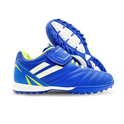 LZQpearl Botas Fútbol para Niños Niñas, Zapatillas Deportivas De Entrenamiento De Atletismo De Fútbol, Zapatillas De Fútbol para Adolescentes, Zapatillas para Niños Unisex (31 (EU 32),Blue)