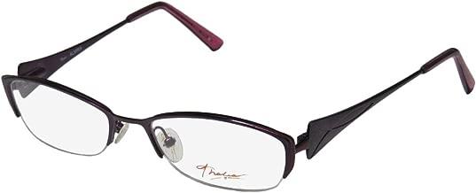 Thalia Almira Womens/Ladies Designer Half-rim Flexible Hinges Color Combination Half-rimless Eyeglasses/Eyeglass Frame