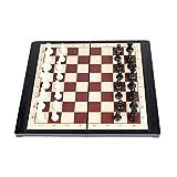 YHYH ajedrez Tablero De Ajedrez Plegable con Imán De Plástico para Juegos De Mesa De Ajedrez ajedrez para Adultos