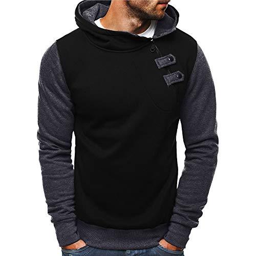 TWBB Camiseta Hombre Sudadera con Capucha de Cremallera Manga Larga