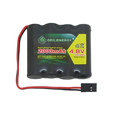 Price comparison product image GEILIENERGY NiMH Receiver RX Battery with Hitec Connectors 4.8V 2000mAh High Capacity Rechargeable Battery Pack for RC Receivers