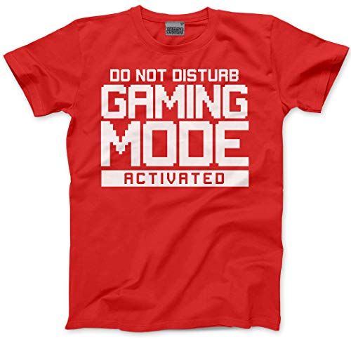 HotScamp Do Not Disturb Gaming Mode Activated Kids T Shirt Gamer Console cod Age 1213 36 red
