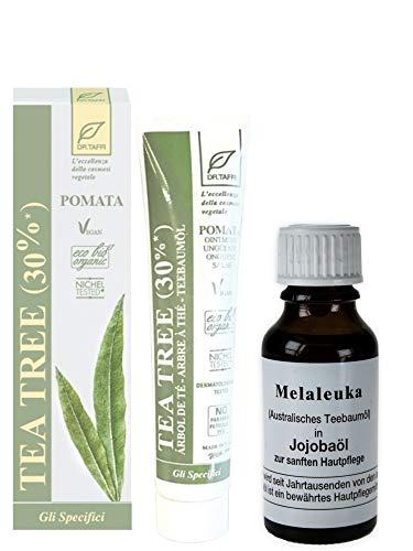 Dr. Taffi Teebaumölsalbe 50ml + Melaleuka in Jojobaöl (Teebaumöl) vielseitig einsetzbar