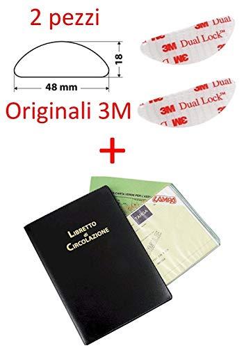 2 Pezzi Adesivo per Fissaggio Telepass Originale 3M + Porta Libretto Auto