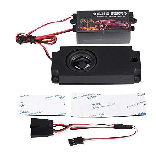 Dilwe RC Auto Motor Sound Simulator, Fernbedienung Auto Sound Motor Simuliertes Modul Set mit 1 Lautsprecher für 1/10 Fahrzeugmodelle(Ein Sprecher)