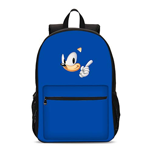 XINFAN Borsa Sonic Blue Hedgehog Sonic Schoolbag Sonic Boy Student Campus Backpack Nome Lunch Bag Satchel