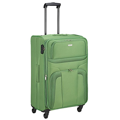Travelite Orlando 4w Trolley, erweiterbar, 98549-80 Koffer, 75 cm, 95 L, Grün