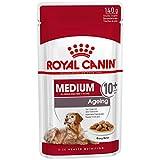 ROYAL CANIN Comida húmeda Medium Ageing 10+ Trozos de Carne en Salsa para...