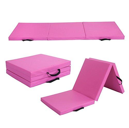 RHF Kids Gymnastics Mat, Gymnastic Mat, Tumbling Mat, Tumbling Mat for Gymnastics for Home, Gymnastics Equipment, Gymnastic Mats, Mat for Gymnastics, Gym Mats for Home (Pink-6 by 2 feet)