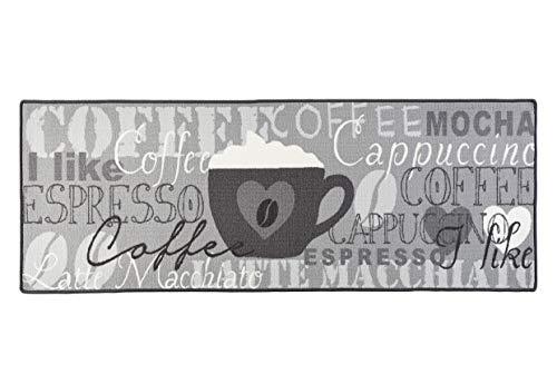 Hanse Home Coffee Cup - Alfombra de Cocina (67 x 180 cm), Color Gris