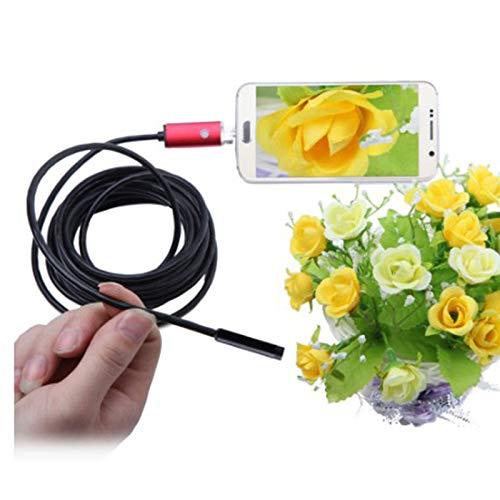Chnzyr 2 in 1 Mini-USB-Endoskop USB-Endoskop-30X-Inspektionskamera Mikroskop Digitale Lupe für Android-Telefone PC 5.5mm Schließen Sie Ihr Handy EIN Foto Route nehmen