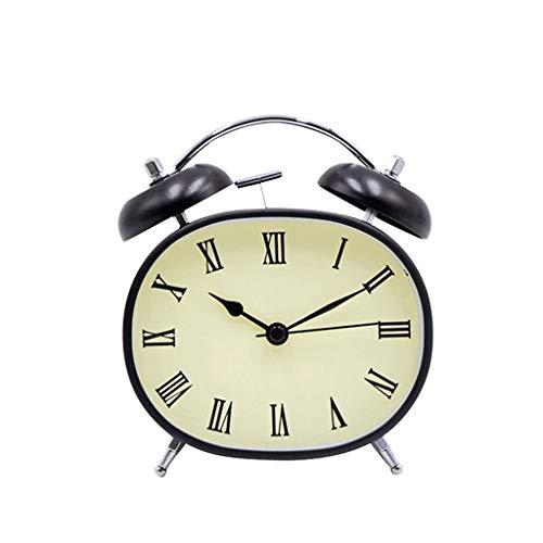kerryshop Reloj Despertador Retro Reloj Despertador Silencio Reloj Despertador Mute Puntero Moda Reloj electrónico Reloj Despertador Función de luz Nocturna Reloj Despertador Reloj de Escritorio