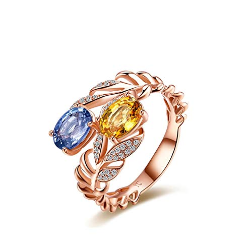Ubestlove Yellow Sapphire Ring Jewellery Gifts For Women Rings Oval Ring 2Ct I 1/2