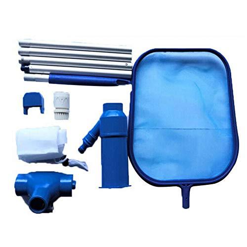 Kit de nettoyage de piscine - Écumoire de piscine avec tête d'aspiration de poteau - Filet fin - Kit d'entretien de piscine portable - Accessoires pour spas, jacuzzi, fontaine