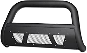 HS Power Matte Black Studded Laser Mesh Bull Bar 2005-2015 for Toyota Tacoma All Models HD HeavyDuty Steel Brush Push Front Bumper Grill Guard